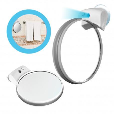 Espejo doble giratorio con aumento luz y chupon b 04 209 for Espejo de aumento con luz